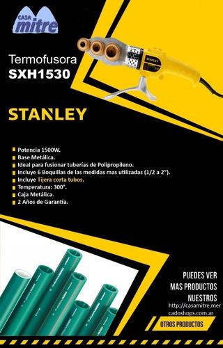 termofusora 1500w stanley 6 boquillas+ tijera 0-300º sxh1530