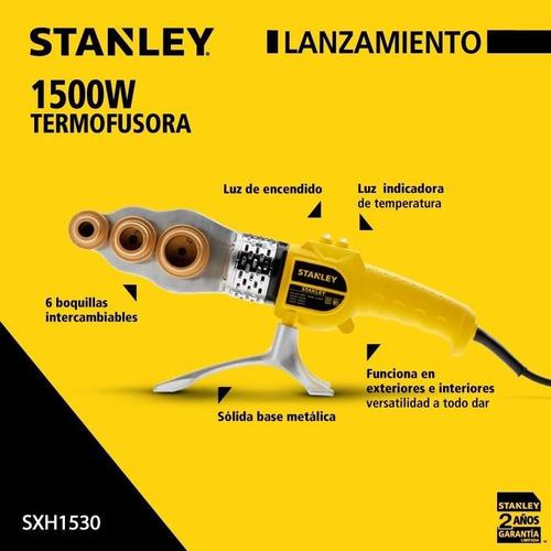 termofusora 1500w stanley 6 boquillas + tijera sxh153 hipermaq stanley sxh1530-ar