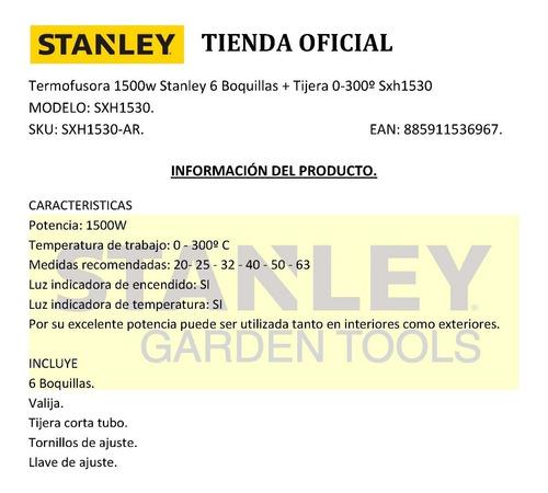 termofusora 1500w stanley sxh153 6 boquillas + tijera 0-300º