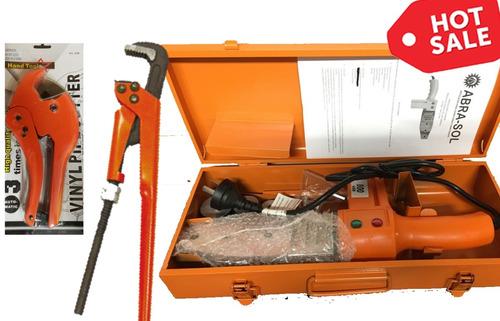termofusora 800w + 3 boquilla + llave de caño + tijera pvc