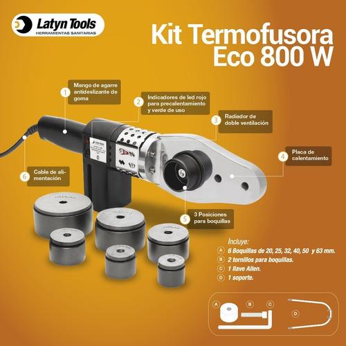 termofusora 800w +maletín+6 boquillas+llave+soporte tf5006