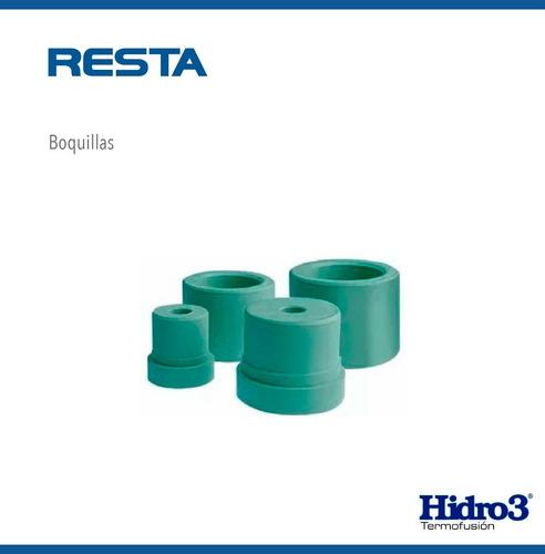 termofusora h3 1600 w + boquillas + tijera corta tubo