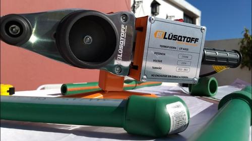 termofusora lusqtoff 1500w + tijera + nivel + maletin + 6 boquillas para sistemas aquasystem y sigas termofusionadora