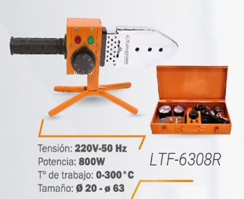 termofusora lusqtoff  800w ltf-6308r maletín y 6 boquillas