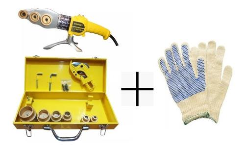 termofusora stanley 1500w 6 boquillas fusión caños + guantes