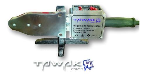 termofusora tawak 1500w + 6 boquillas+maletín+tijera tk04