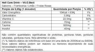 termogênico hellcore - 200g vitobest - limão