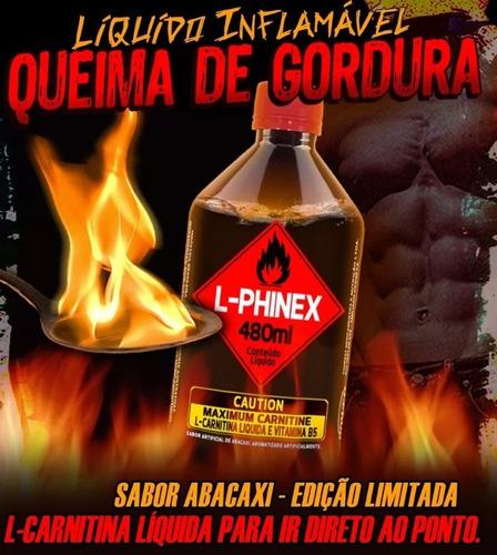 termogênico líquido l-phinex - melhor que lipo 6 black!!!