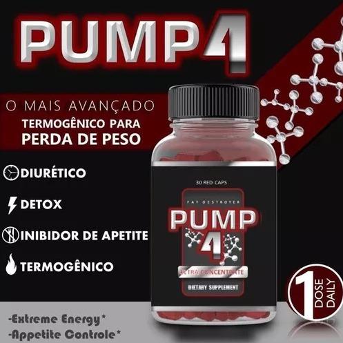 termogênico pump4 - único emagrecedor - pump4