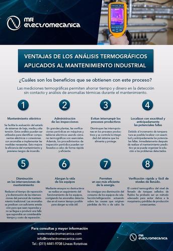 termografía en planta industrial. certificación iso 9001
