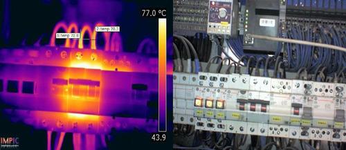 termografía perdidas fuga agua caliente calefacción humedad