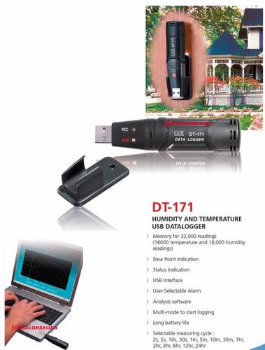 termohigrometro portable data logger temperatura humedad usb