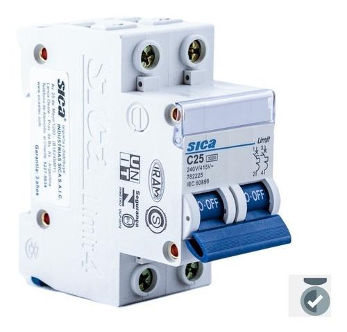 termomagnetica bipolar 25 amp llave termica 2x25 sica