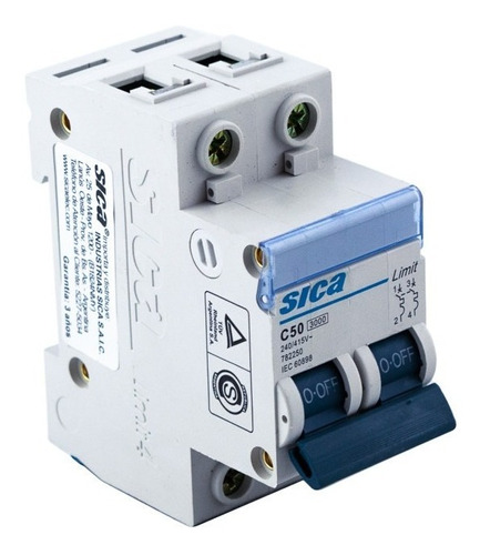 termomagnética bipolar 50 amp llave térmica 2 x 50 sica
