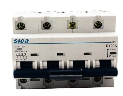 termomagnética tetrapolar 100 amp llave térmica 4 x 100 sica