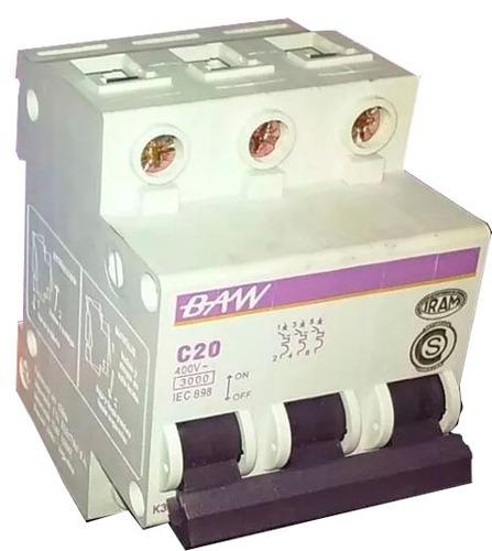 termomagnetica tripolar 20a llave termica 3x20 baw 3ka