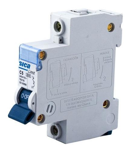 termomagnética unipolar 5 amp llave térmica 1x5 sica oficial