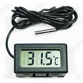 Termômetro / Medidor De Temperatura Lcd - Água E Aquário