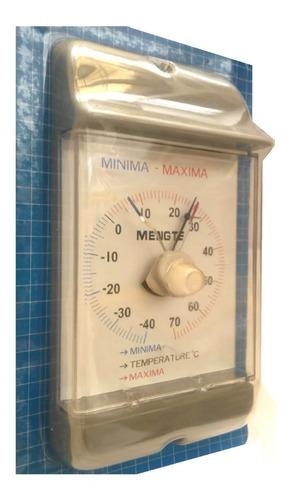 termómetro bimetal max-min  -40 a 70 grados centígrados