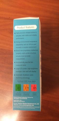 termómetro certificado infrarrojo