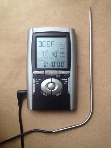 termómetro cocina carnes alarma timer  perfecto