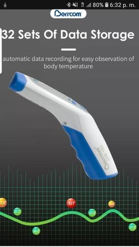 termómetro con infrarrojo digital