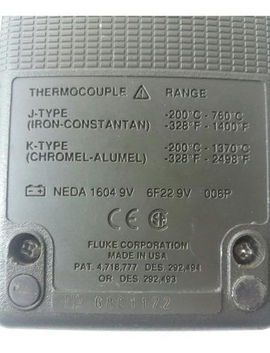 termometro contacto fluke 51 termopar k - j profesional