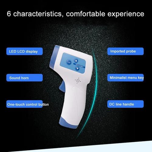 termómetro de frente digital infrarrojo cuerpo temporal th
