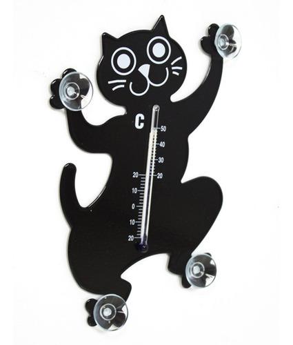 termómetro de metal con diseño de gato / rana - aj hogar