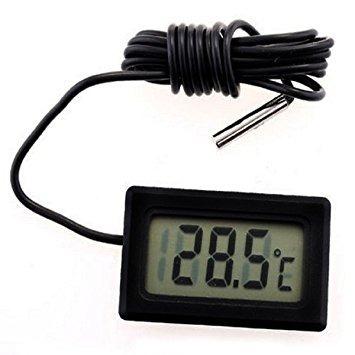 termómetro digital cable sensor temperatura -50 a 110° c lcd