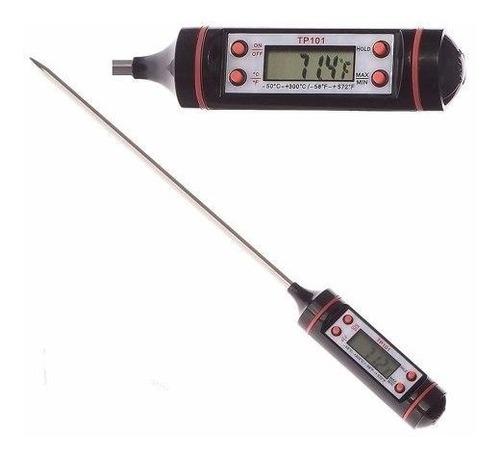 termómetro digital con sonda para cocina líquidos y sólidos