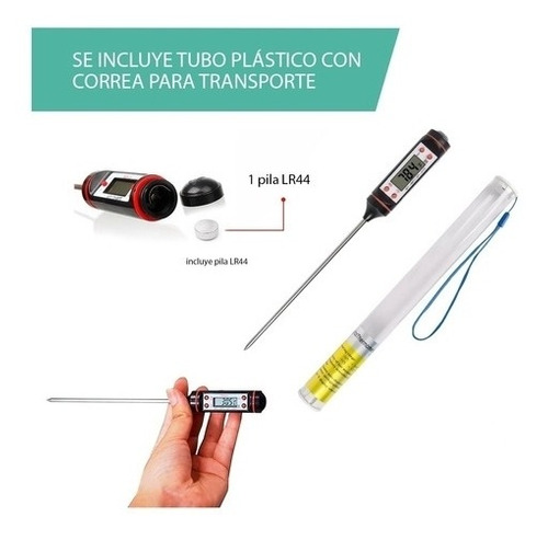 termometro digital de cocina alimentos bebidas reposteria