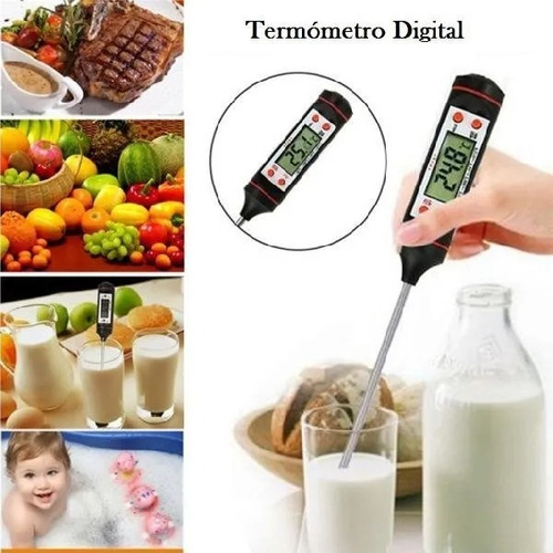 termometro digital de cocina, chocolate reposteria + estuche