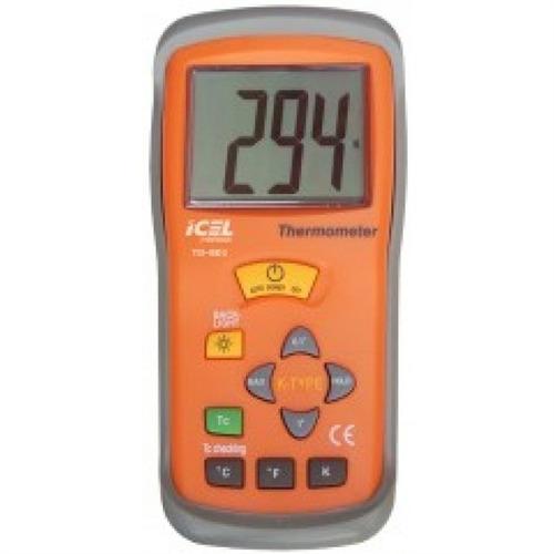 termometro digital icel termopar e memoria lcd profissional
