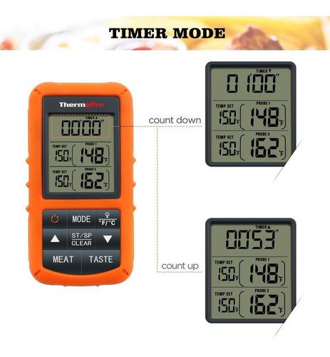 termometro digital inalambrico thermopro tp20 carne y horno
