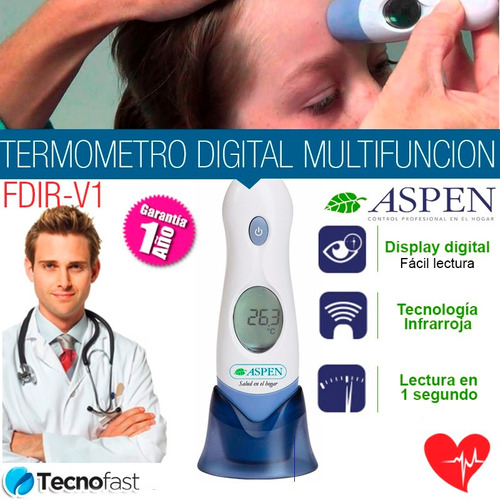 termometro digital infrarrojo 4en1 frente oido aspen fdir v1