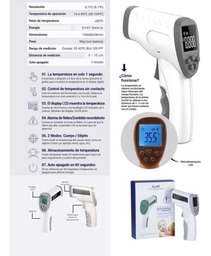 termómetro digital infrarrojo con bateria