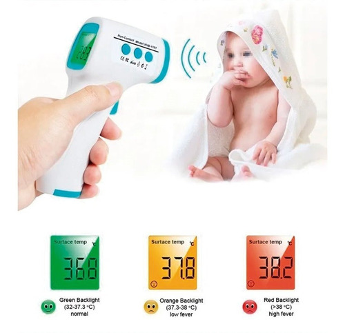 termometro digital infrarrojo, frente / sin contacto