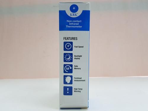 termómetro digital infrarrojo frente sin contacto color temp