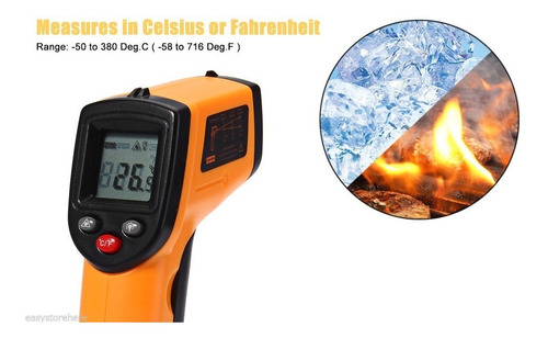 termometro digital infrarrojo laser de pistola a distancia