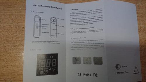 termometro digital infrarrojo médico