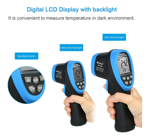 termometro digital infrarrojo profesional 1500 holdpeak