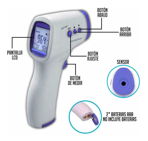 termómetro digital instantaneo