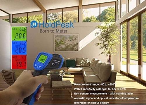 termómetro digital láser temperatura infrarojo -50ºc a 550ºc