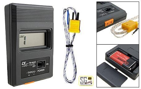 termometro digital lcd de rapida lectura, con sonda standard