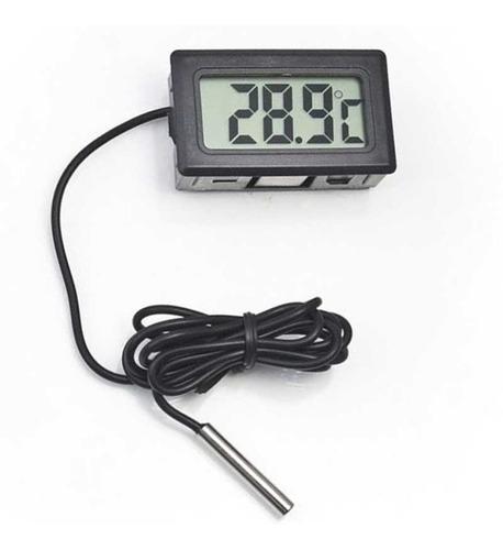termómetro digital lcd sonda 1 mts acuario freezer 42x28mm