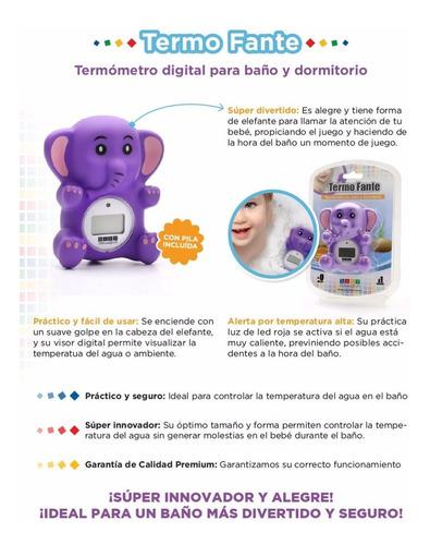 termómetro digital p/ agua baño y ambiente luz agua calient