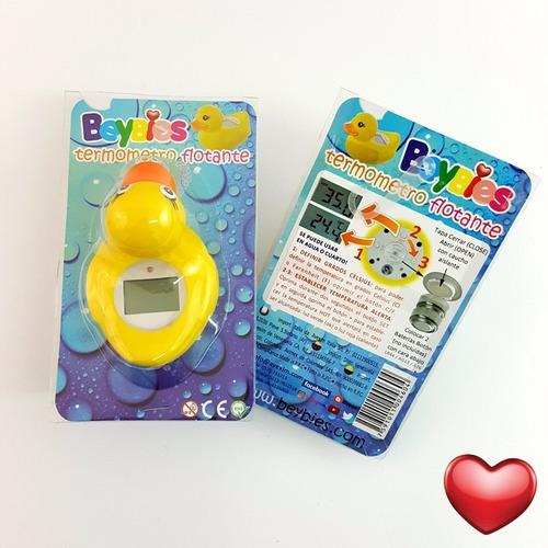 termometro flotante pato baño cuarto beybies