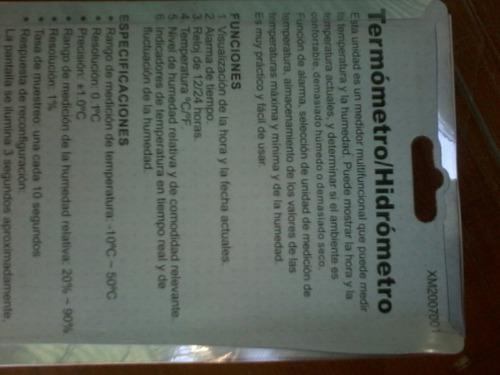 termómetro / hidrometro