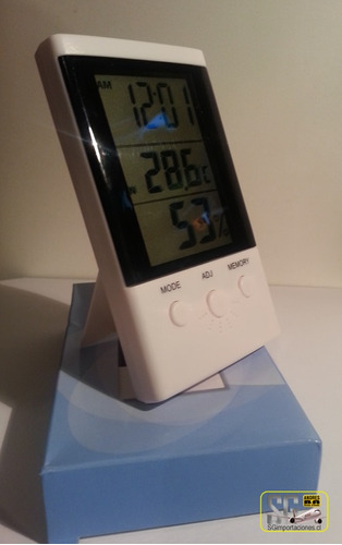 termometro higrometro ambiental, reloj (cod. thdhx808.001)